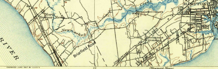 Briarfield Road Map