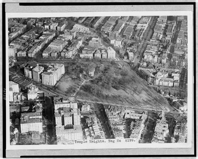 "Aerial view of ""Oak Lawn,"" Washington, D.C., site of Washington Hilton Hotel."
